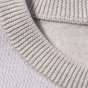 Bugatchi Long Sleeve Crew Neck Sweater, Oyster