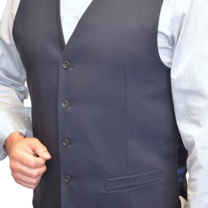 J. Grill 5 Button Suit Vest, 8005 Navy